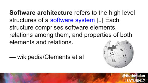 software architecture is elements and relations